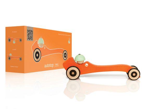Autotop Mon Petit Art color naranja (detalle)