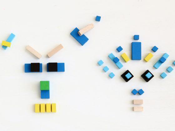 Mini Cubes Mon Petit Art Turquesa (detalle)