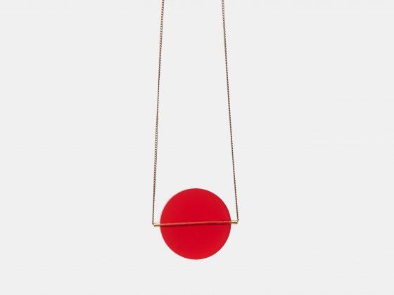 Colgante Full Moon Rojo